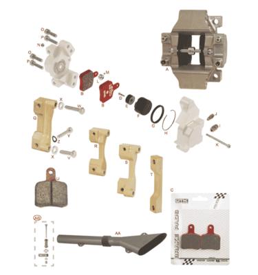 Bremsecaliber Bagerste SA2 & SA3
