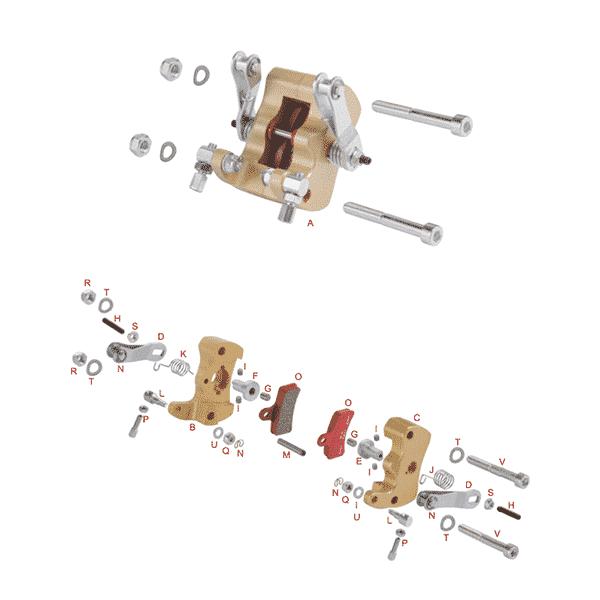 Bremsecaliber Mekanisk Micro