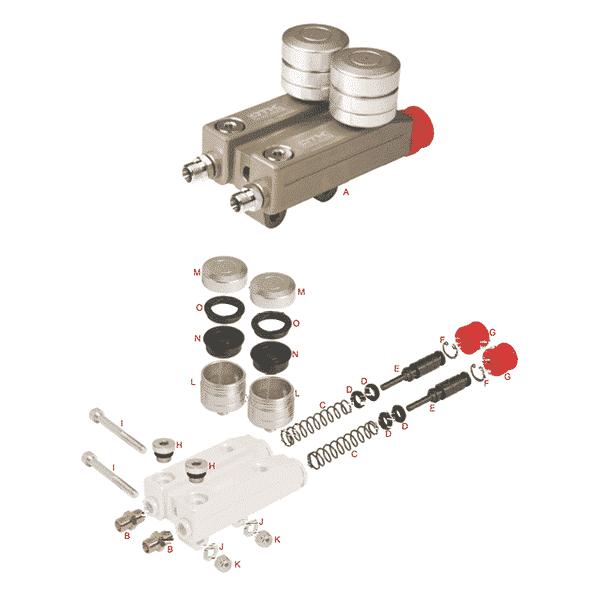 Bremsehovedcylinder SA2 & SA3